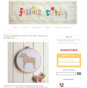 feeling stitchy blog feature instagram finds honey and blueberries